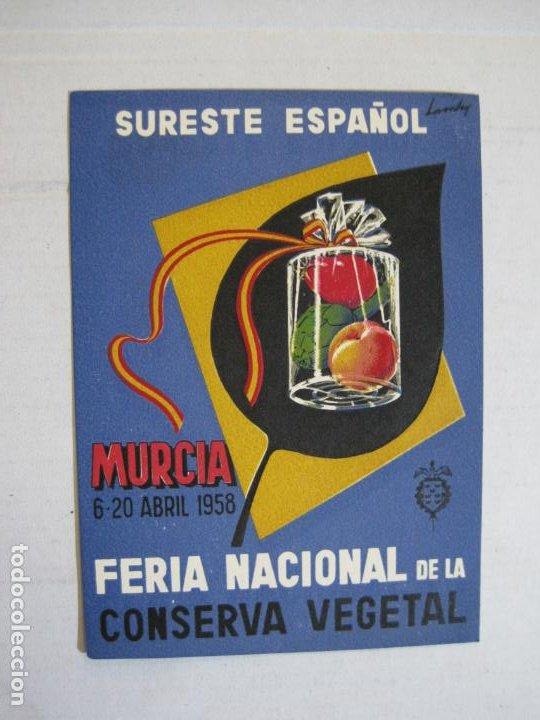 MURCIA-FERIA NACIONAL DE LA CONSERVA VEGETAL-AÑO 1958-POSTAL PUBLICIDAD ANTIGUA-VER FOTOS-(75.286) (Postales - Postales Temáticas - Publicitarias)