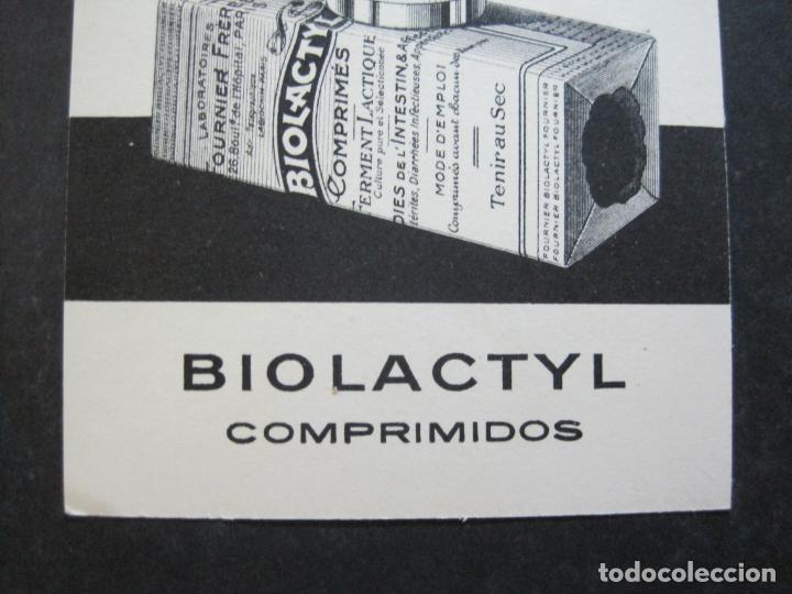 Postales: FARMACIA-BIOLACTYL COMPRIMIDOS-POSTAL PUBLICIDAD ANTIGUA-VER FOTOS-(75.293) - Foto 3 - 222705068