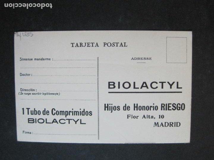 Postales: FARMACIA-BIOLACTYL COMPRIMIDOS-POSTAL PUBLICIDAD ANTIGUA-VER FOTOS-(75.293) - Foto 4 - 222705068