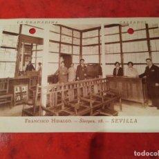 Postales: POSTAL ANTIGUA LA GRANADINA CALZADOS SEVILLA FRANCISCO HIDALGO 1931 CIRCULADA. Lote 222717143
