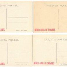 Postales: 12 POSTALES CUADROS MUSEO DEL PRADO - FOTOTIPIA J. ROIG - PUBLICIDAD - BEBED AGUA DE SOLARES. Lote 222847226