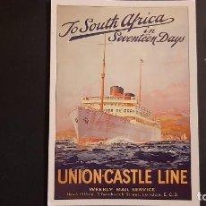 Postales: POSTAL PUBLICIDAD UNION CASTLE LINE P678. Lote 223022642