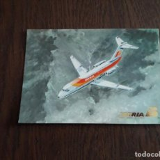 Postales: POSTAL DE PUBLICIDAD DE IBERIA, TRANSPORTE AÉREO, DOUGLAS DC-9. Lote 224927222