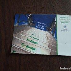 Postales: POSTAL DE PUBLICIDAD DE BINTER, LÍNEA AÉREA. BINTER CANARIAS, VOLAMOS CADA VEZ MÁS ALTO.. Lote 224927401
