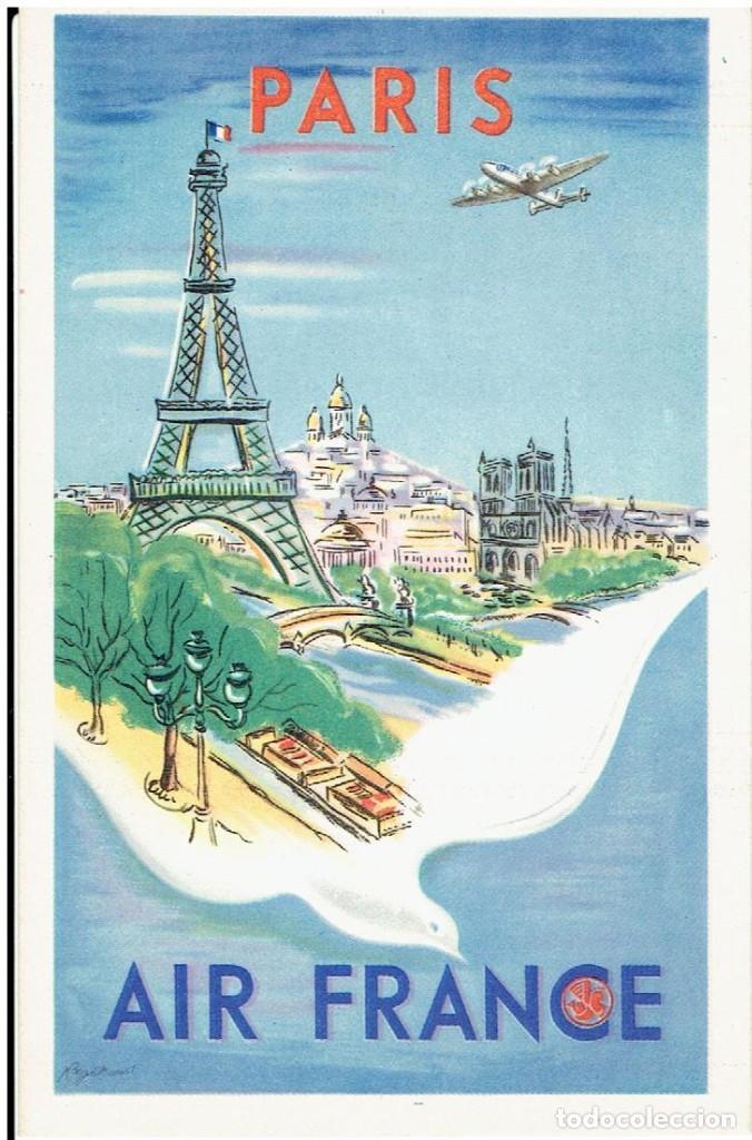 POSTAL PUBLICITARIA, AIR FRANCE, PARIS, , SIN CIRCULAR (Postales - Postales Temáticas - Publicitarias)