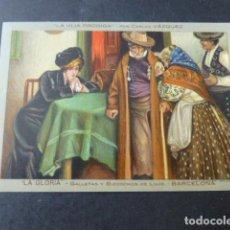 Postales: BIZCOCHOS LA GLORIA BARCELOAN POSTAL PUBLICITARIA. Lote 226842935