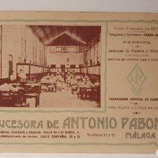 Postales: SUCESORA DE ANTONIO PABON/ TELEGRAMAS Y TELEFONERAS/ SIN CIRCULAR/ (REF.D.182). Lote 228032935