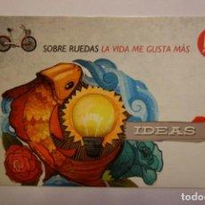 Postales: POSTAL SOBRE RUEDAS LA VIDA ME GUSTA MAS 12 MESES MEDIASET ESPAÑA POSTCARD. Lote 228040665