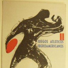 Postales: POSTAL DE II JUEGOS ATLÉTICOS IBEROAMERICANOS - MADRID 1962 CIRCULADA. Lote 228092750