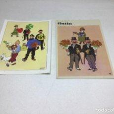 Postales: LOTE DE POSTALES TINTIN - EDITORIAL JUVENTUD. Lote 229225050