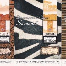Postales: 3 POSTALES (UNIDAS) FORTUNA. ORIENTAL, SAVANNAH, TROPICAL. TABACO. CIGARRILLOS - POSTALFREE (MOD. 1). Lote 232233180