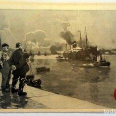 Postales: 5 VINTAGE ADVERTISING POSTCARDS OF SHIPS RED STAR LINE - ANTWERP - 1920. UNUSED, LIKE NEW.. Lote 232456940