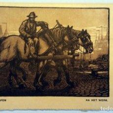 Postales: 6 VINTAGE ADVERTISING POSTCARDS RED STAR LINE - ANTWERP - 1920. UNUSED, LIKE NEW.. Lote 232457295