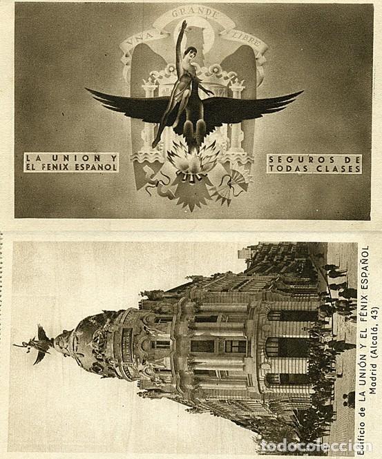 Postales: Block de 10 postales La Unión y el Fenix español. Seguros: Madrid, Bilbao, Valencia, Sevilla, etc. - Foto 2 - 232985026