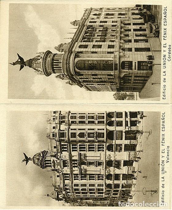 Postales: Block de 10 postales La Unión y el Fenix español. Seguros: Madrid, Bilbao, Valencia, Sevilla, etc. - Foto 4 - 232985026