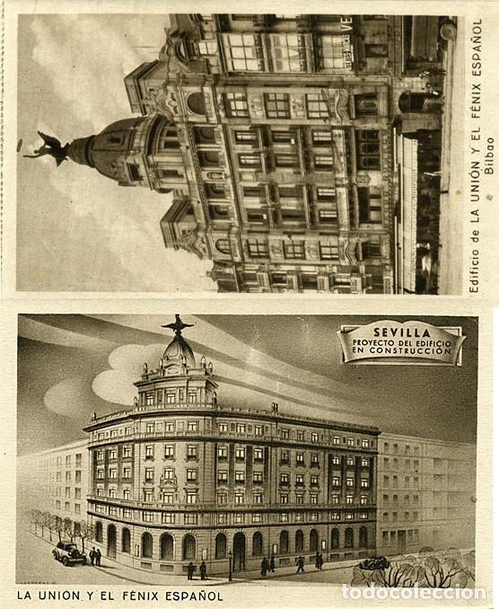 Postales: Block de 10 postales La Unión y el Fenix español. Seguros: Madrid, Bilbao, Valencia, Sevilla, etc. - Foto 5 - 232985026