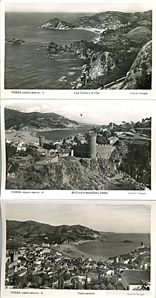 Postales: TOSSA DE MAR, BLOCK ACORDEON DE 10 POSTALES B/N. Clixés M. Fábregas (COSTA BRAVA) - Foto 2 - 232986700