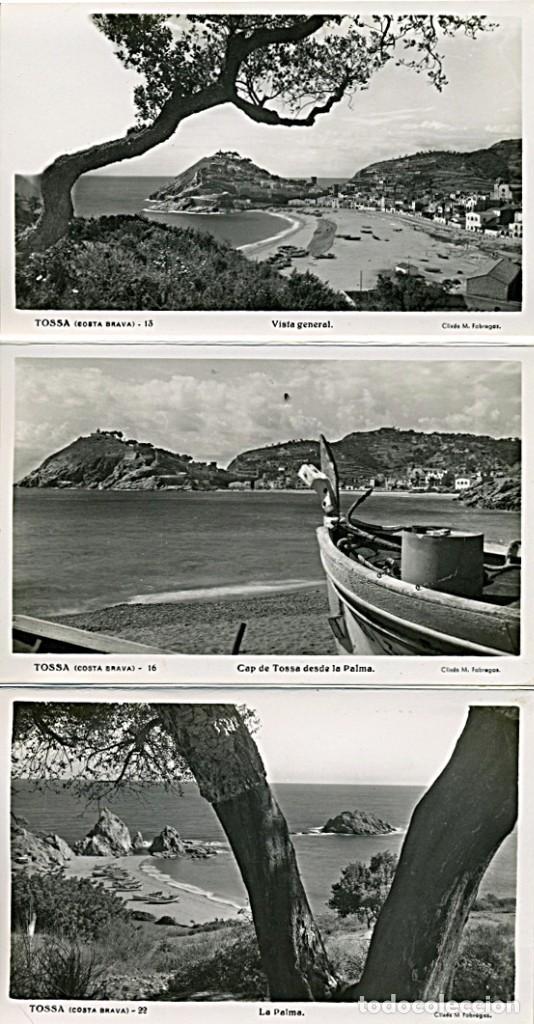 Postales: TOSSA DE MAR, BLOCK ACORDEON DE 10 POSTALES B/N. Clixés M. Fábregas (COSTA BRAVA) - Foto 3 - 232986700
