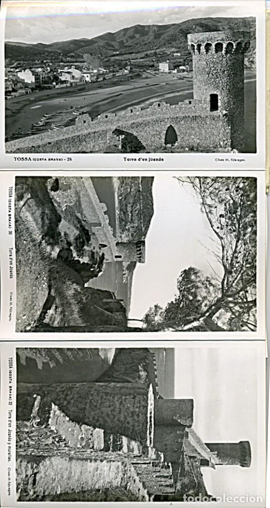 Postales: TOSSA DE MAR, BLOCK ACORDEON DE 10 POSTALES B/N. Clixés M. Fábregas (COSTA BRAVA) - Foto 4 - 232986700