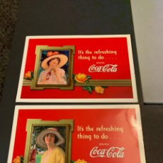 Postales: 2 POSTALES. COCA COLA. 1997. Lote 233710530