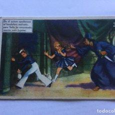Postales: 30 CHOCOLATES JUALO LEON DE ÉL QUIERE APODERARSE BANDOLERO MALVADO PERO SOLIN HA ENCONTRADO RESORTE. Lote 235959565