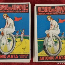 Postales: COLECCION DE 187 POSTALES LITOGRAFIADAS. NEUMÁTICOS ANTONIO MATA. SIGLO XX.. Lote 239402960