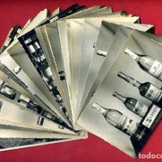 Postales: LOTE 31 FOTOS TAMAÑO POSTAL PUBLICIDAD LICORES LOPEZ EGEA SUECA VALENCIA ORIGINALES L25. Lote 239678180