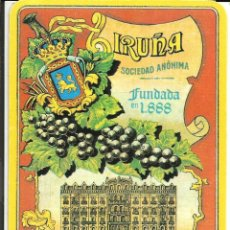 Postales: TARJETA IRUÑA SOCIEDAD ANONIMA, FUNDADA EN 1888. PAMPLONA. Lote 242226905
