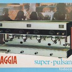 Postales: RARA POSTAL PUBLICITARIA CAFETERA GAGGIA SUPER PULSANTE 1968 ESCRITA Y CURCULADA. Lote 243278470