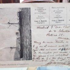 Postales: POSTAL CRUCERO ACORAZADO NUMANCIA MIGUEL GALVEZ SELLOS COLECCIONES CASA DE CAMBIO MONEDAS Y BILLETES. Lote 243558375