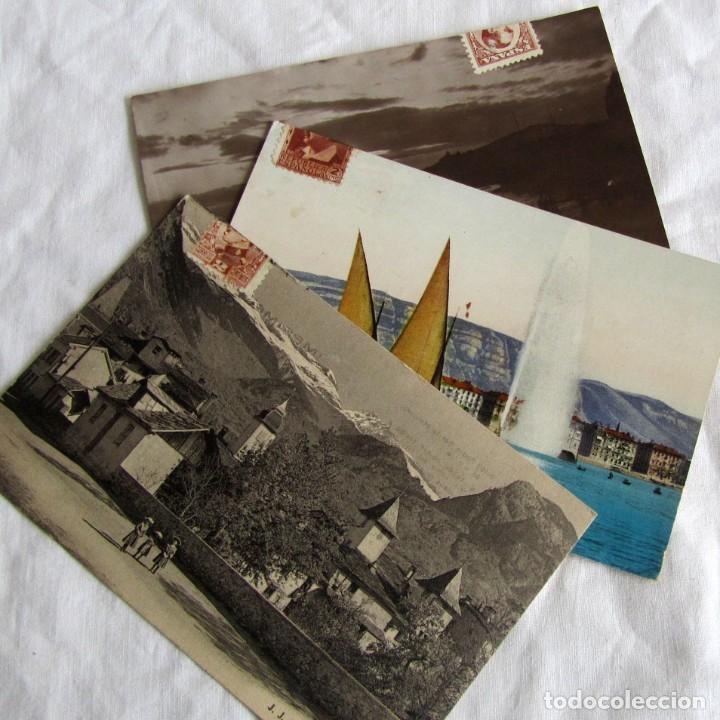 3 TARJETAS PUBLICITARIAS SARCOLACTINA, ALFONSO XIII Y REPÚBLICA, CASTRONUÑO, VALLADOLID (Postales - Postales Temáticas - Publicitarias)