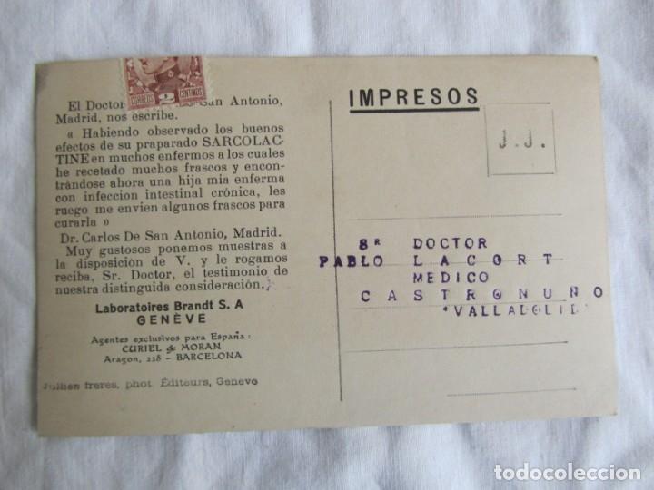 Postales: 3 tarjetas publicitarias Sarcolactina, Alfonso XIII y República, Castronuño, Valladolid - Foto 3 - 243852250
