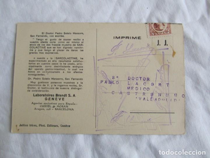 Postales: 3 tarjetas publicitarias Sarcolactina, Alfonso XIII y República, Castronuño, Valladolid - Foto 5 - 243852250