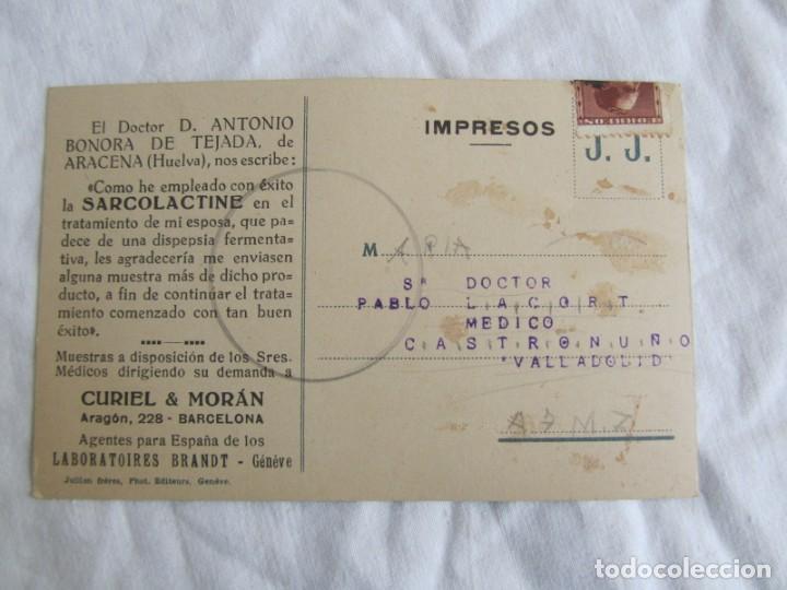 Postales: 3 tarjetas publicitarias Sarcolactina, Alfonso XIII y República, Castronuño, Valladolid - Foto 7 - 243852250
