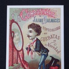 Postales: POSTAL DE PUBLICIDAD LA CORBATINERA LEER DESCRIPCION. Lote 243863195