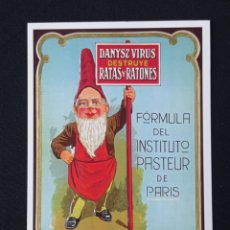 Postales: POSTAL DE PUBLICIDAD DANYSZ VIRUS LEER DESCRIPCION. Lote 243863880