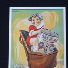 Postales: POSTAL DE PUBLICIDAD LACHE CONDENSADA LEER DESCRIPCION. Lote 243865005