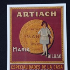 Postales: POSTAL DE PUBLICIDAD ARTIACH LEER DESCRIPCION. Lote 243866940