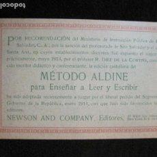 Postales: METODO ALDINE-PUBLICIDAD-POSTAL ANTIGUA-VER FOTOS-(77.778). Lote 244426930