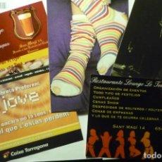Postales: LOTE POSTALES PUBLICITARIAS COMERCIOS TARRAGONA. Lote 244439645