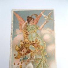 Postales: POSTAL PUBLICITARIA A HAPPY NEW YEAR 1904 - ILLUSTRATED POSTAL CARD CO. NEW YORK - RARA. Lote 244738925