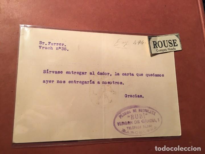 Postales: PUBLICIDAD TARJETA - CHOCOLATE BUBIDE LA COMPAÑIA COLONIAL DE ÁFRICA BARCELONA VIRGEN DE GRACIA - Foto 2 - 245390310