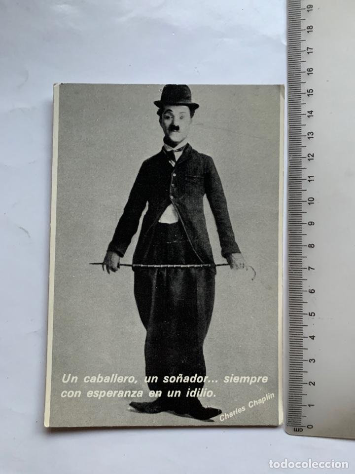 POSTAL. CHARLES CHAPLIN. ROBERTO PURSNANI, S. A. (Postales - Postales Temáticas - Publicitarias)