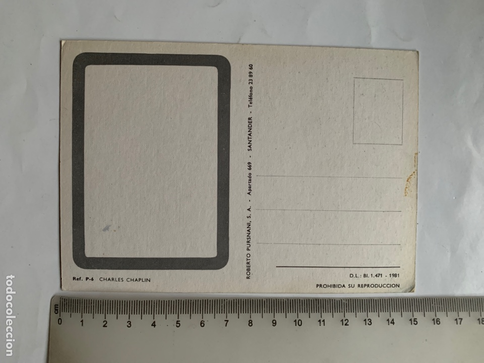 Postales: POSTAL. CHARLES CHAPLIN. THE KID. ROBERTO PURSNANI, S. A. 1981. - Foto 2 - 245958395