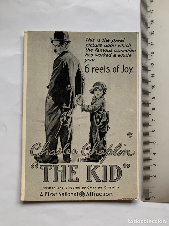 POSTAL. CHARLES CHAPLIN. THE KID. ROBERTO PURSNANI, S. A. 1981. (Postales - Postales Temáticas - Publicitarias)