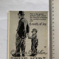 Postales: POSTAL. CHARLES CHAPLIN. THE KID. ROBERTO PURSNANI, S. A. 1981.. Lote 245958395