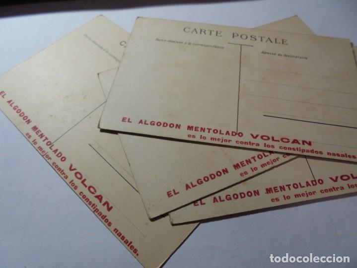 Postales: magnificas antiguas 4 postales publicidad el algodon mentolado volcan - Foto 5 - 246310220