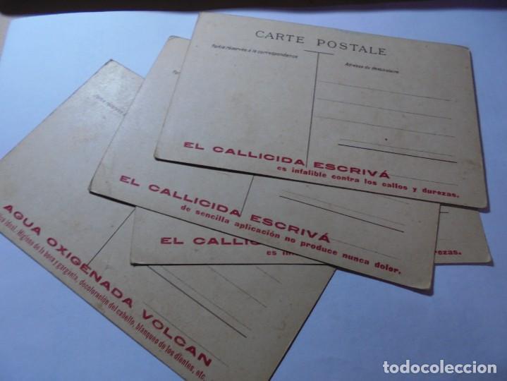 Postales: magnificas antiguas 4 postales publicidad el callicida escriva - Foto 5 - 246310765