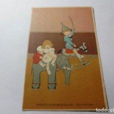 Postales: MAGNIFICAS ANTIGUAS 5 POSTALES PUBLICIDAD EL CALLICIDA ESCRIVA. Lote 246311130