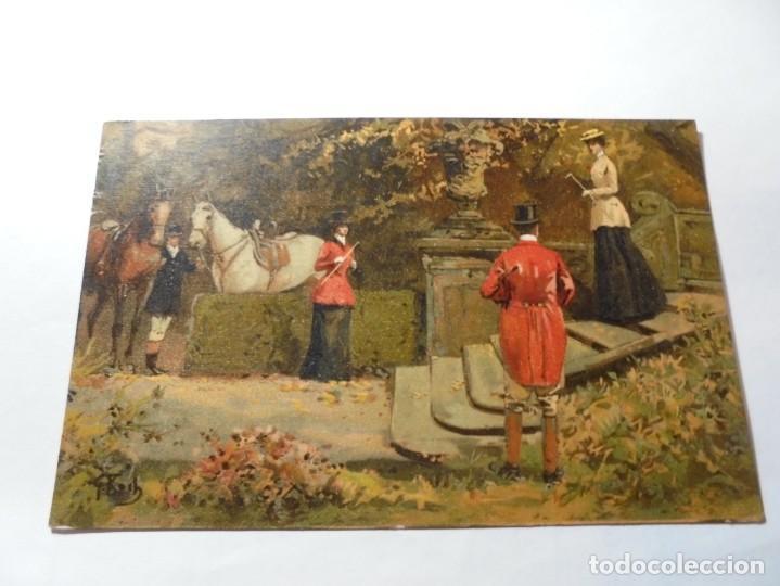 Postales: magnificas 5 postales antiguas publicidad linimento alonso ojera para caballos - Foto 2 - 246320350